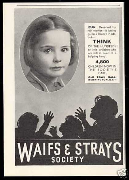 Waifs and Strays Advertisement